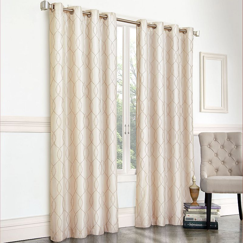Gramercy Embroidered Faux-Silk Curtain
