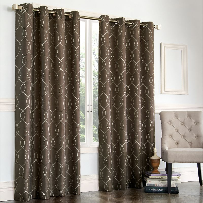 brown fabric shower curtain | kohl's