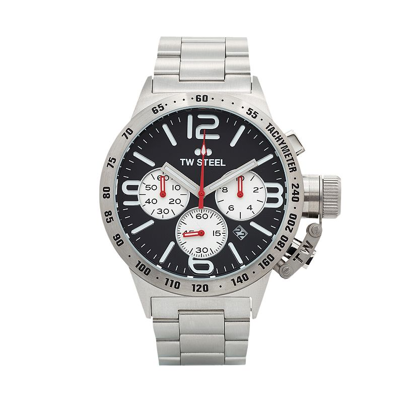 TW Steel Men's Canteen Stainless Steel Chronograph Watch - CB4