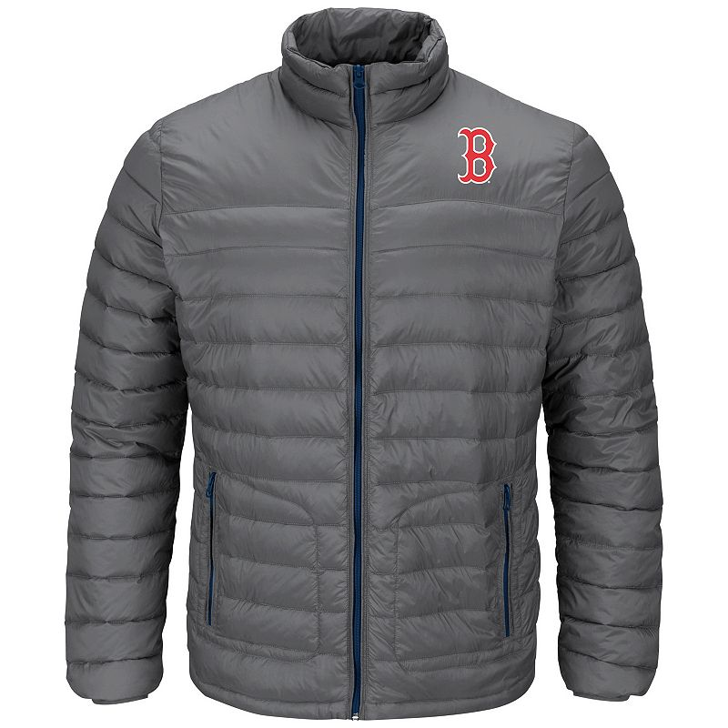 Men's Majestic Boston Red Sox Train To Win Puffer Jacket