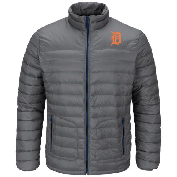 Men's Majestic Detroit Tigers Train To Win Puffer Jacket