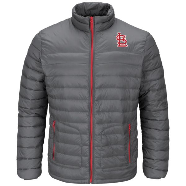 Men's Majestic St. Louis Cardinals Train To Win Puffer Jacket