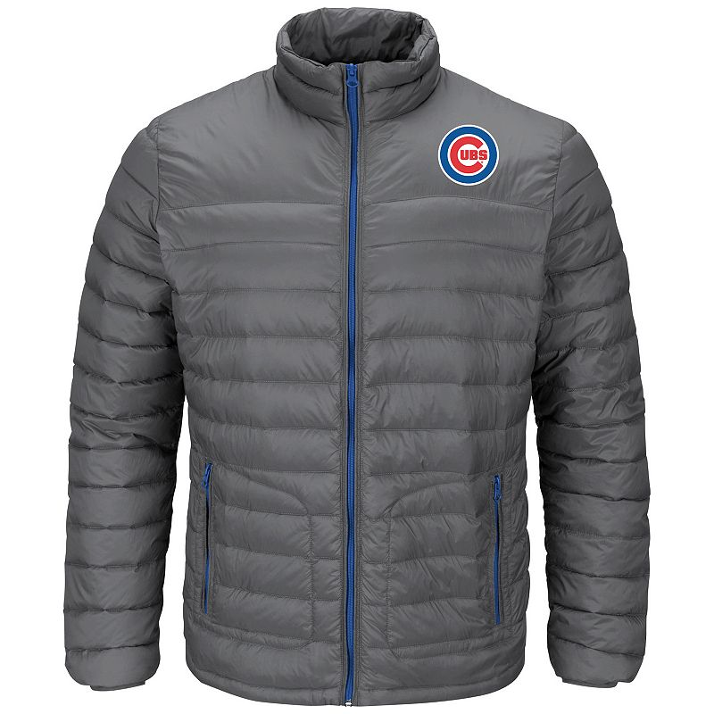 Men's Majestic Chicago Cubs Train To Win Puffer Jacket