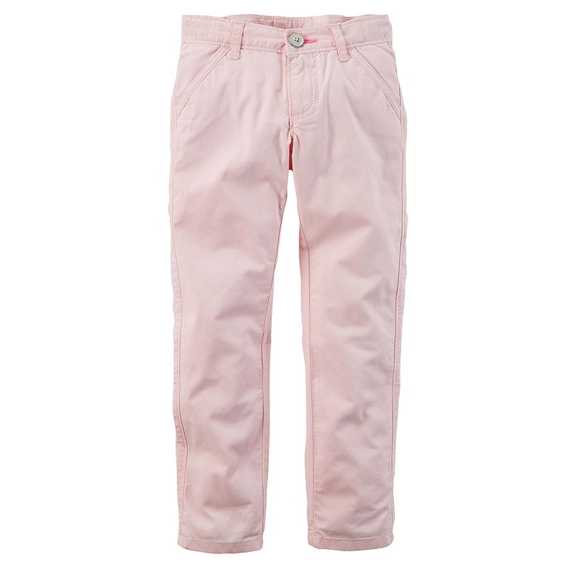 Girls 4-8 Carter's Solid Twill Pants