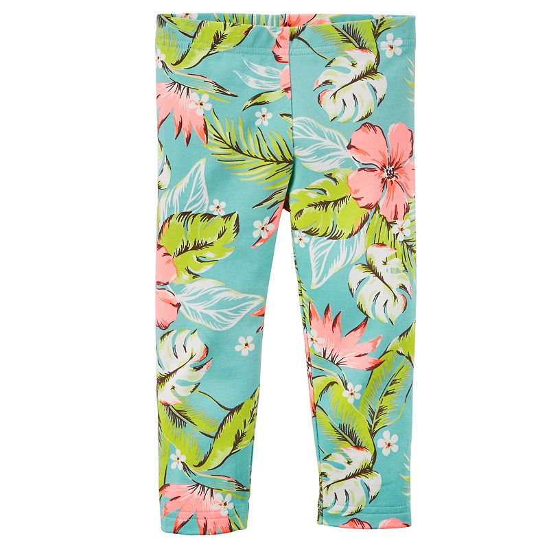 Girls 4-8 Carter's Printed Capri Leggings