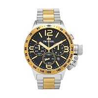 TW Steel Men's Canteen Two Tone Stainless Steel Chronograph Watch - CB43