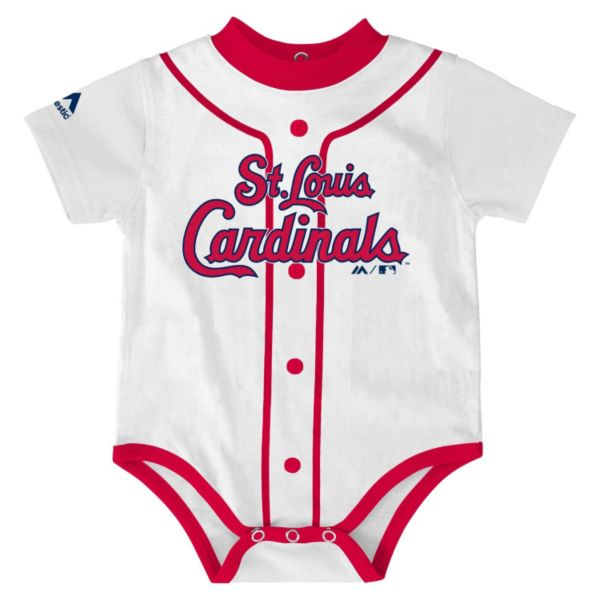 Baby Majestic St. Louis Cardinals Home Jersey Bodysuit