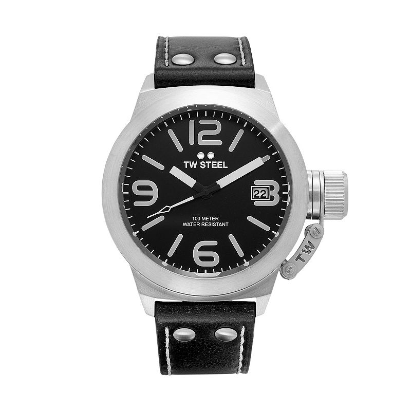 TW Steel Men's Canteen Leather Watch