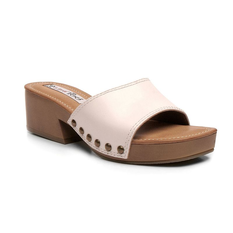 2 Lips Too Too Lindy Women's Chunky Heel Slide Sandals