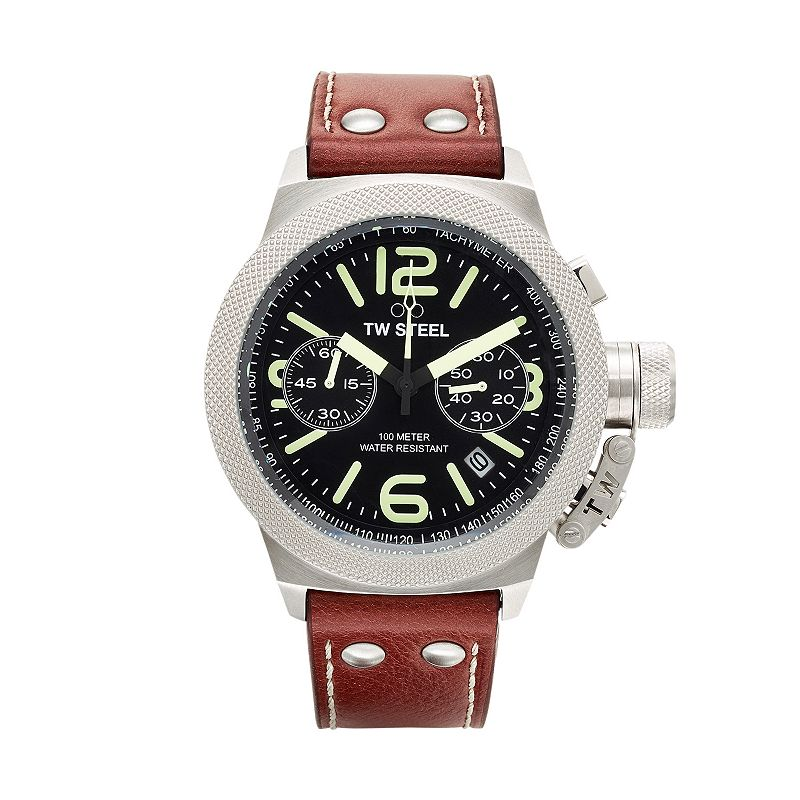 TW Steel Men's Canteen Leather Chronograph Watch - CS23