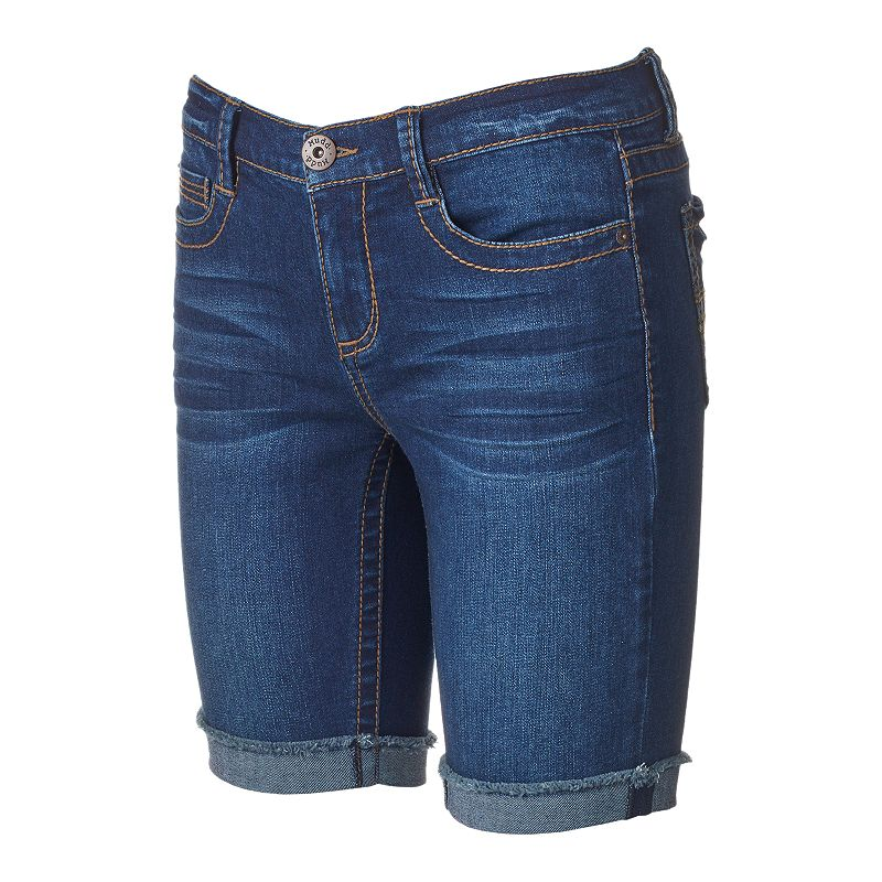 Juniors' Mudd® Heavy Stitch Bermuda Shorts