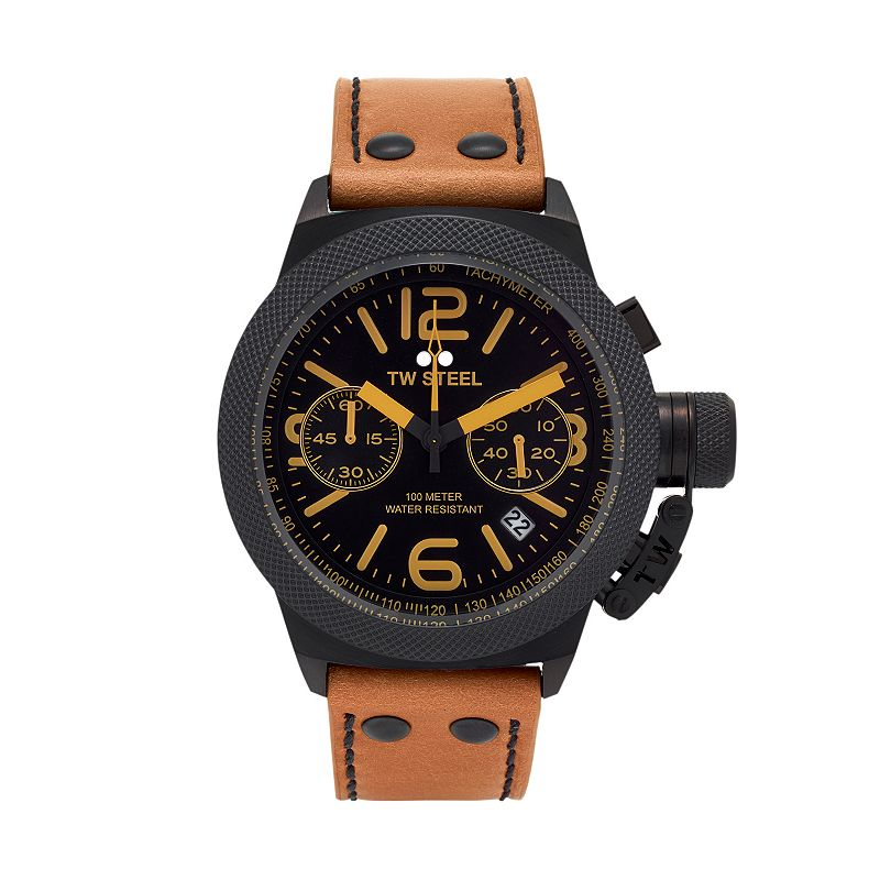 TW Steel Men's Canteen Leather Chronograph Watch - CS43