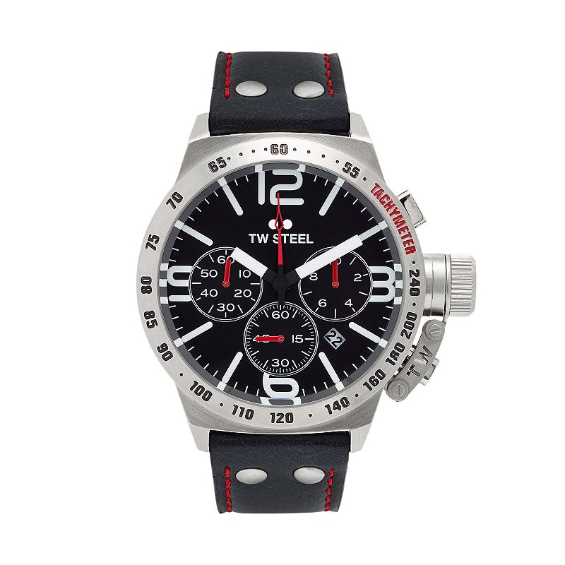 TW Steel Men's Canteen Leather Chronograph Watch - CS9