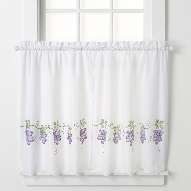 CHF 2-pk. Grapes Tier Curtains