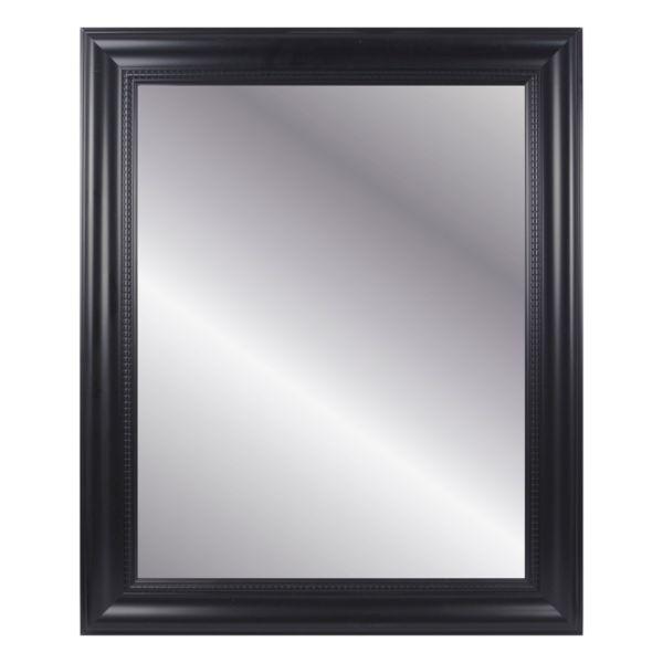 Belle Maison Black Beveled Wall Mirror