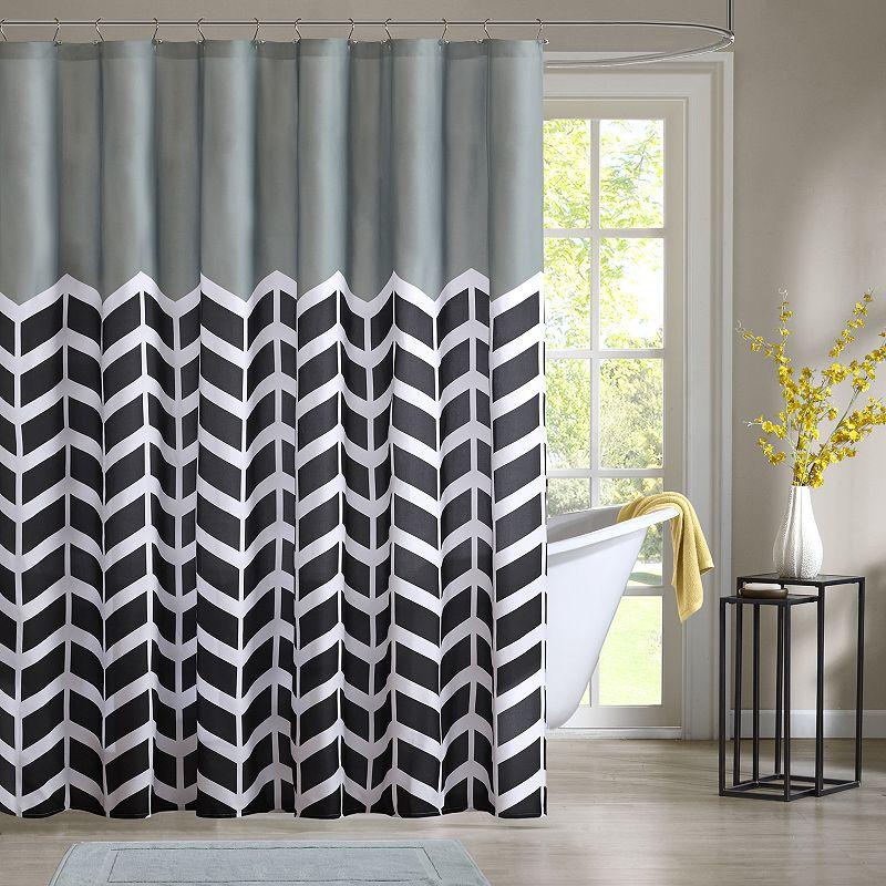 Intelligent Design Chevron Shower Curtain