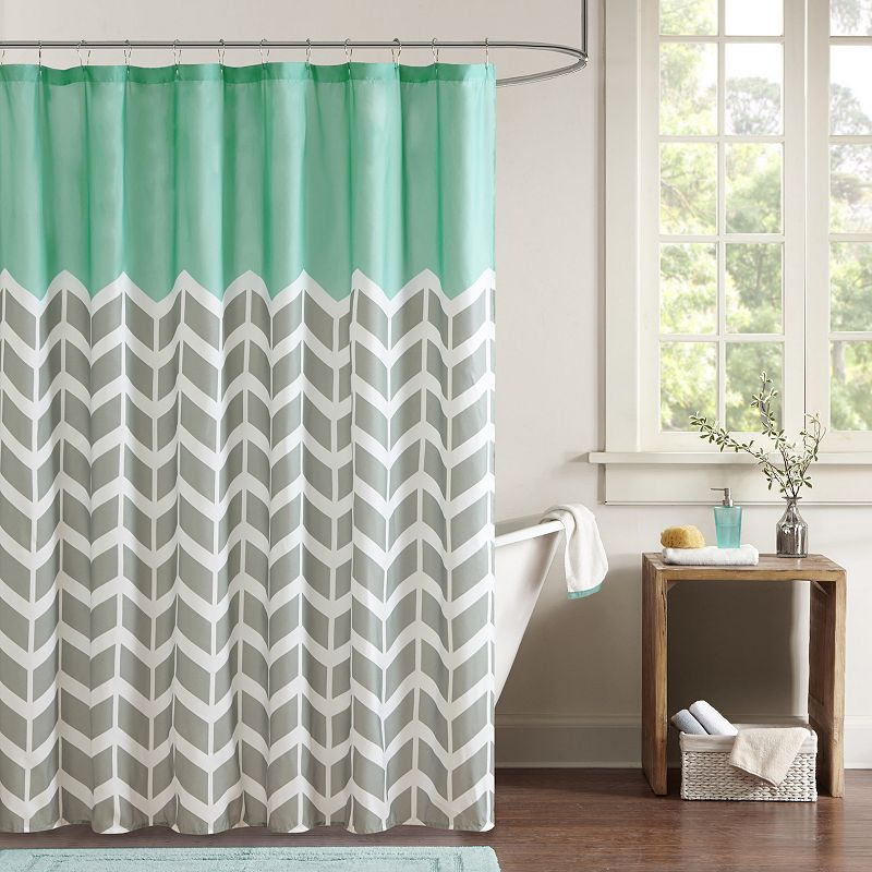 Intelligent Design Chevron Shower Curtain
