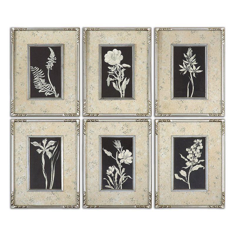 Glowing Florals Wall Art 6-piece Set