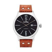 TW Steel Men's Slim Line Leather Automatic Watch - TWA1310