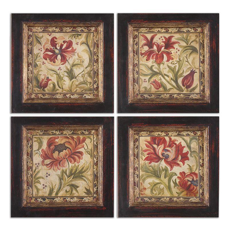 Floral Daydream Wall Art 4-piece Set