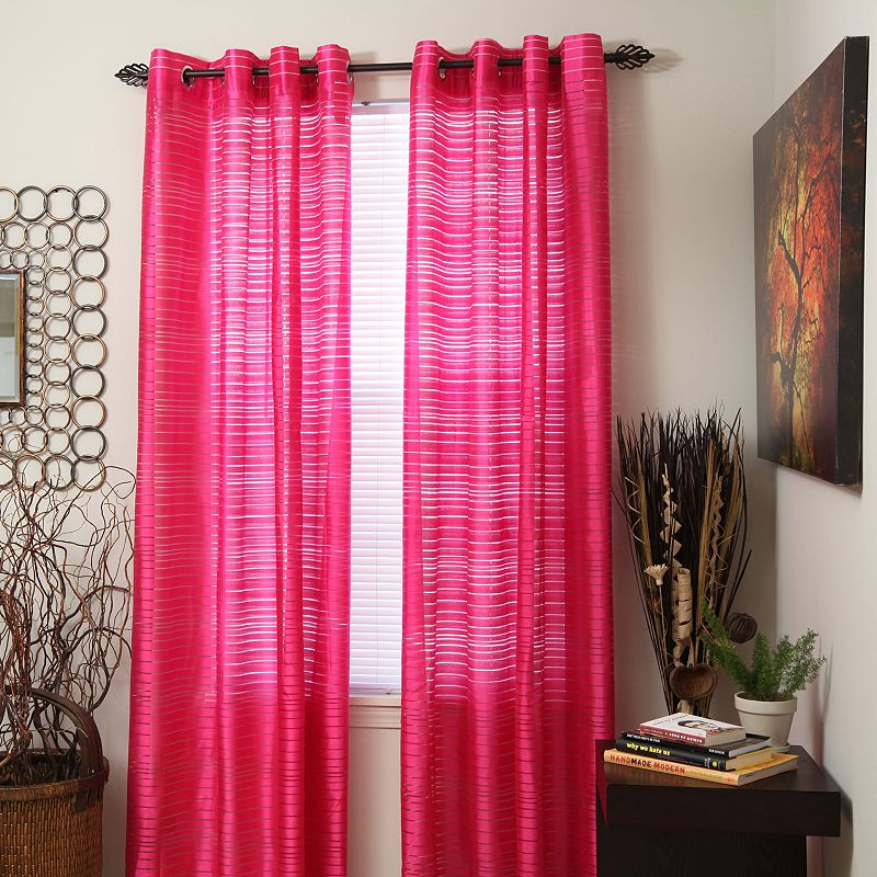 Portsmouth Home 2-pk. Maggie Striped Curtains