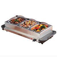 Brentwood Appliance Stainless Steel Triple Buffet Server & Warmer