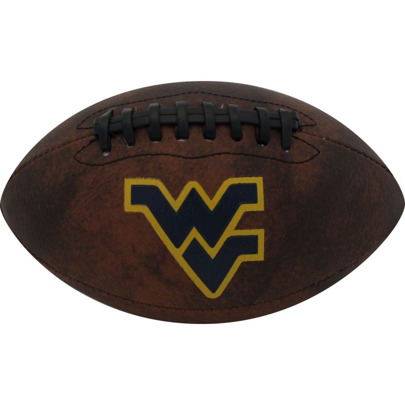 Baden West Virginia Mountaineers Mini Vintage Football, Brown thumbnail