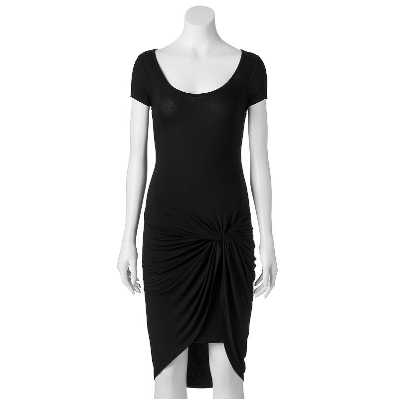 Juniors' Almost Famous Knot-Front Dress