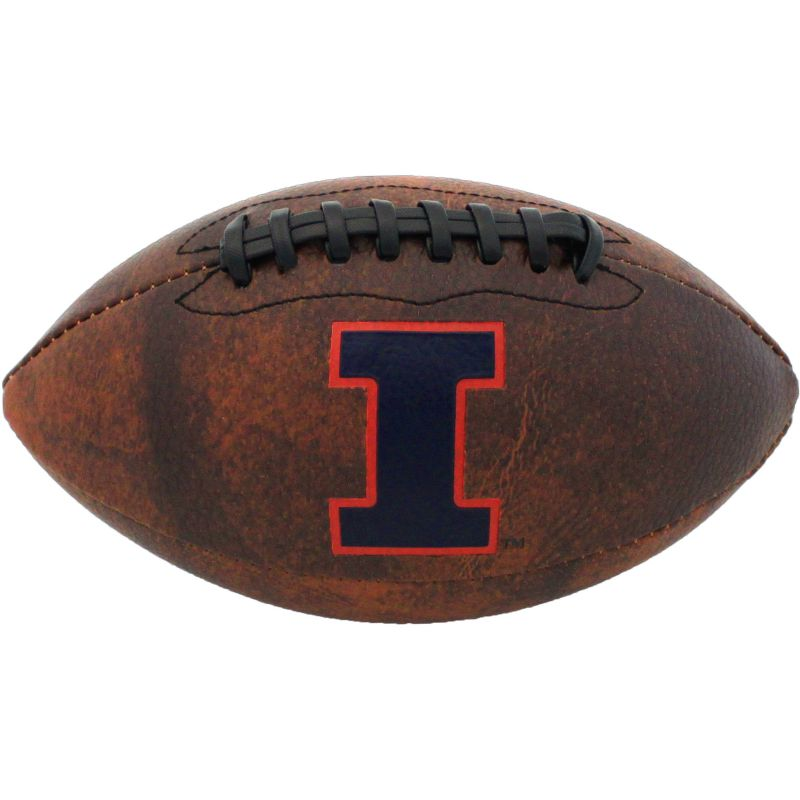 Baden Illinois Fighting Illini Mini Vintage Football, Brown thumbnail