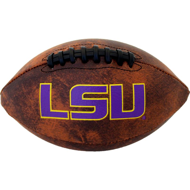 Baden LSU Tigers Mini Vintage Football, Brown thumbnail
