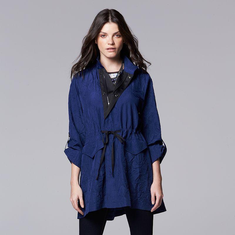 Petite Simply Vera Vera Wang Crinkle Anorak Jacket