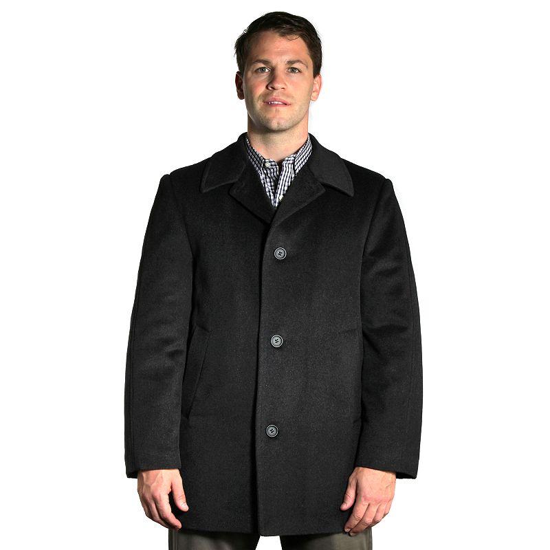 Big & Tall Jean-Paul Germain Wool-Blend 4-Button Walking Coat