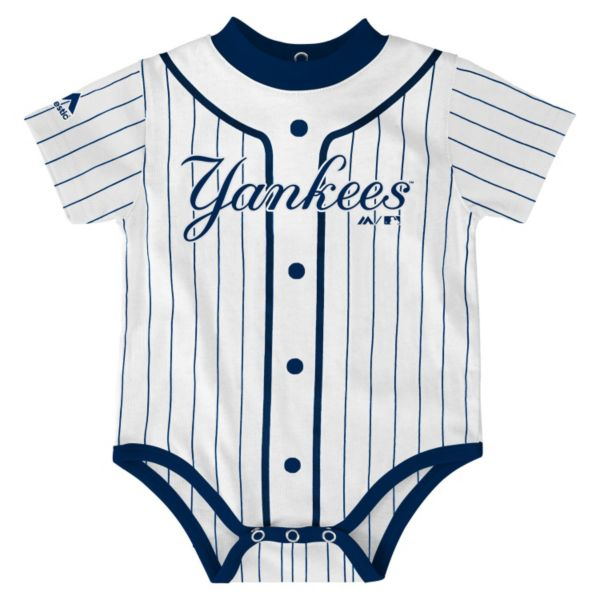 Baby Majestic New York Yankees Home Jersey Bodysuit