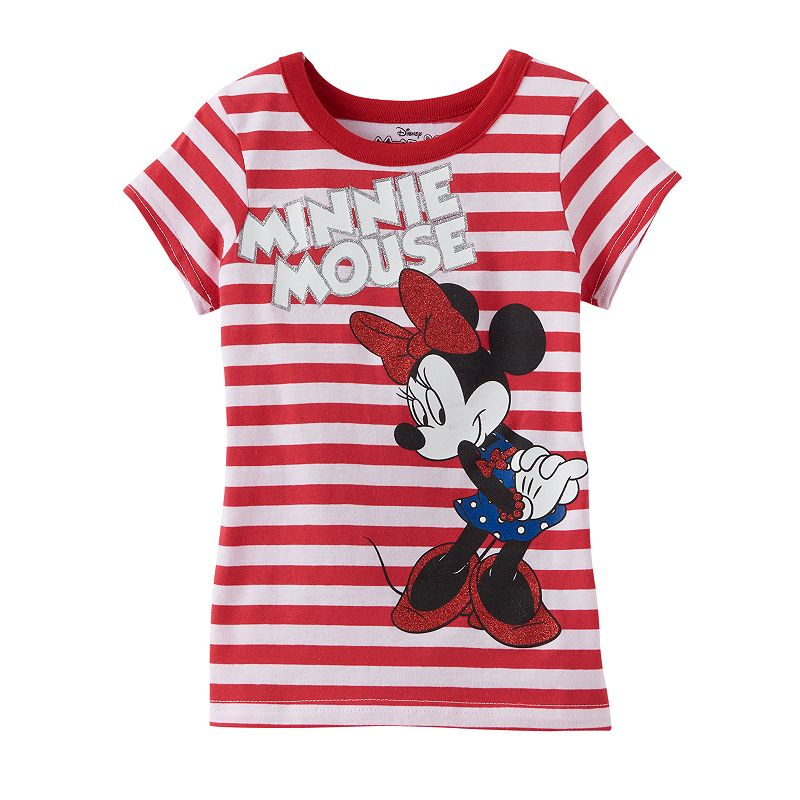 Disney's Minnie Mouse Girls 4-6x Striped Tee