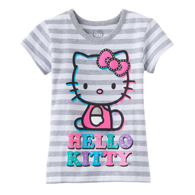 Girls 4-6x Hello Kitty® Striped Tee