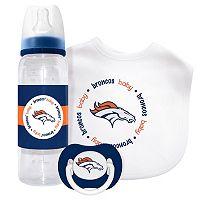 Baby Fanatic Denver Broncos 3-Piece Gift Set