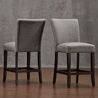 HomeVance Leona Gray Counter Stool 2-piece Set