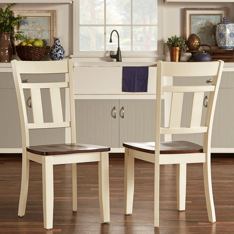 HomeVance Prentice 2-pc. Two Tone Side Chair
