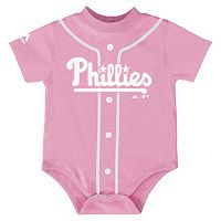 Baby Majestic Philadelphia Phillies Pink Jersey Bodysuit