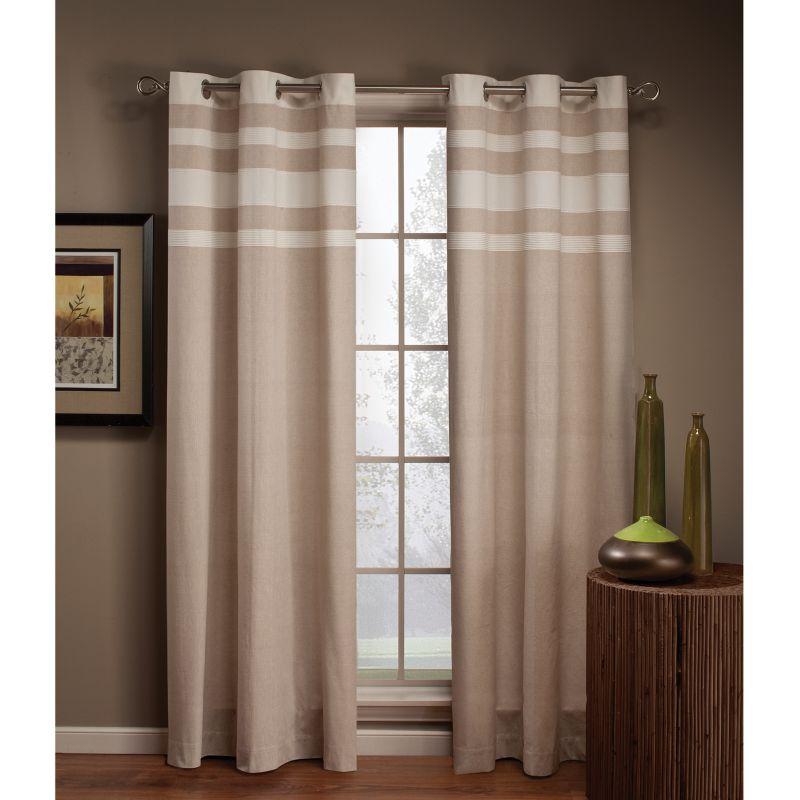 Saturday Knight, Ltd. Streamline Striped Curtain