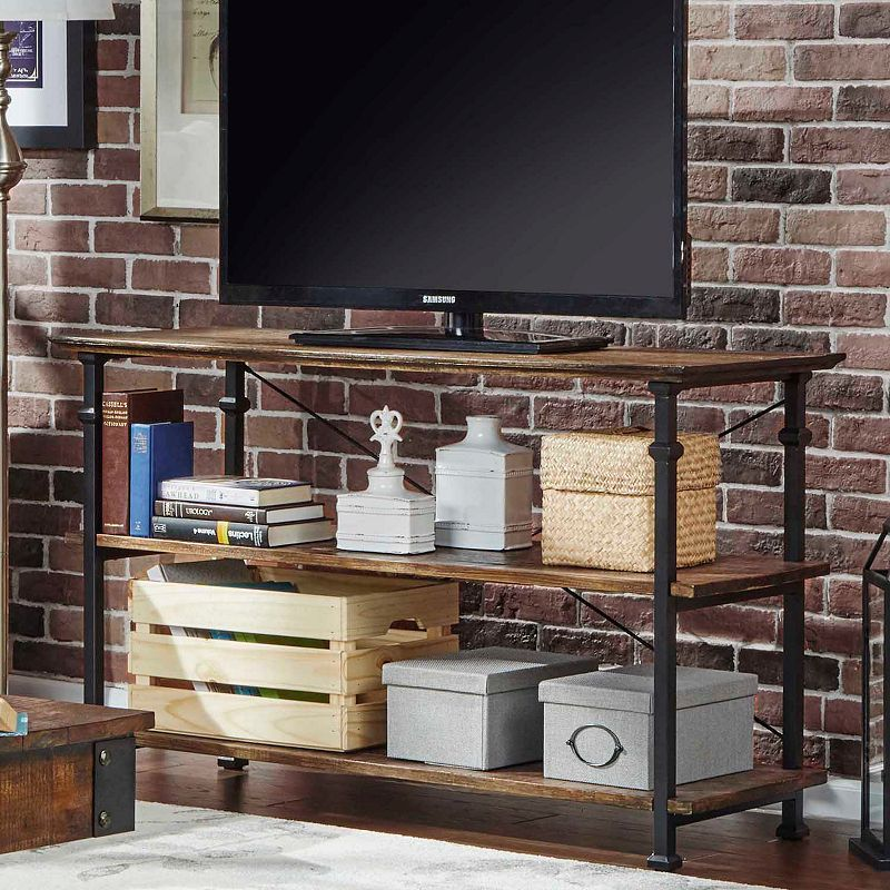 HomeVance Derry Brown TV Stand