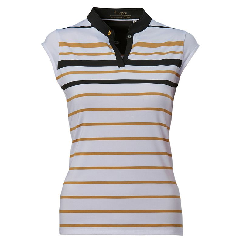 Plus Size Nancy Lopez Sense Sleeveless Golf Polo