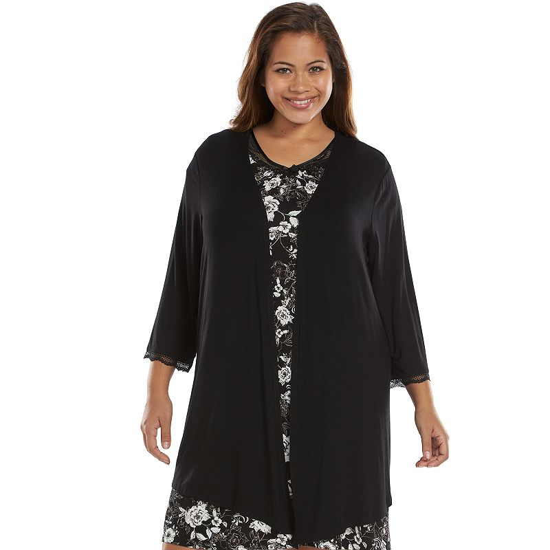 Plus Size Apt. 9® Love Story Open-Front Cardigan