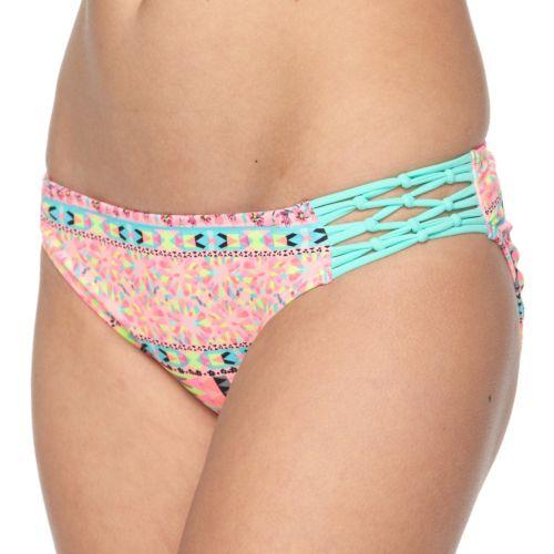 Juniors' Breaking Waves Kaleidoscope Hipster Bikini Bottoms