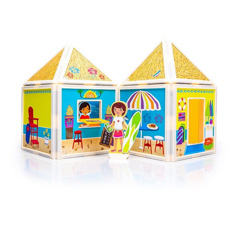 Build & Imagine Day at the Beach Playset