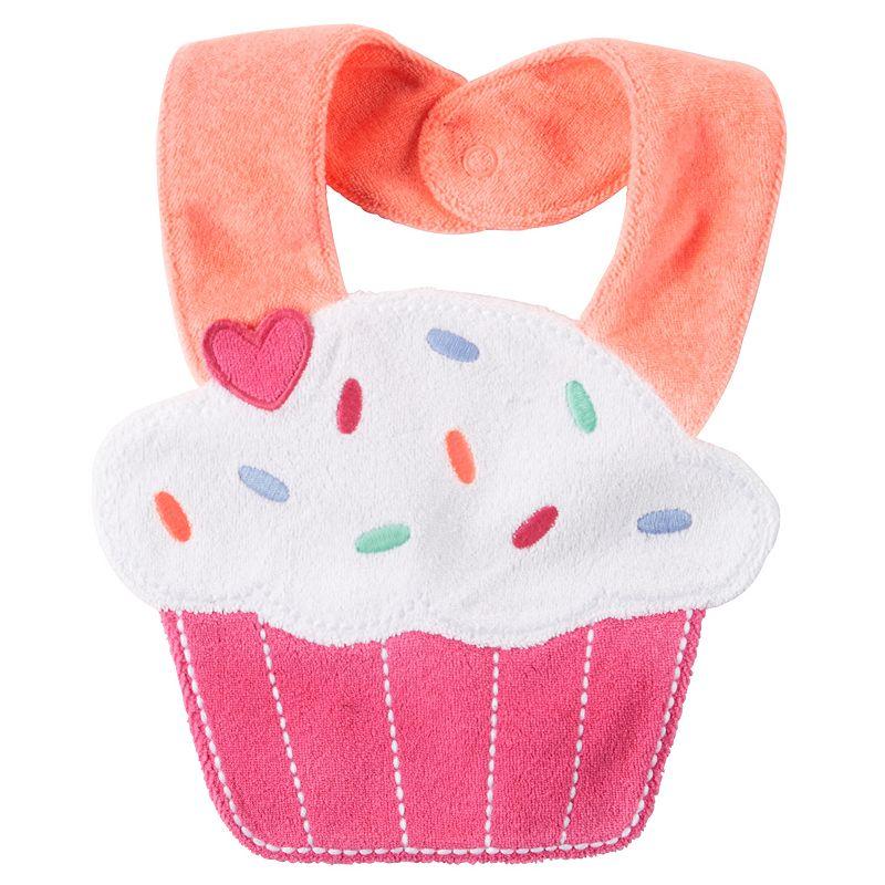 Baby Girl Carter's Cupcake Teething Bib