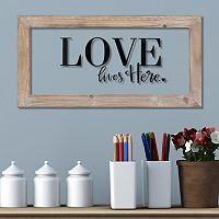 Stratton Home Decor ''Love Lives Here'' Framed Wall Art