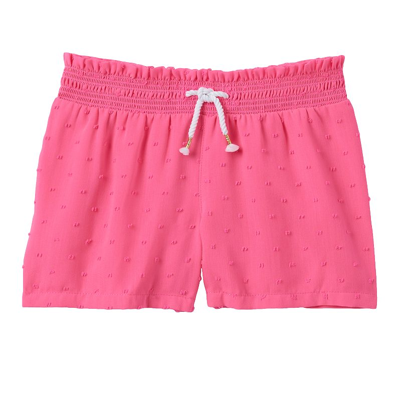 Girls 4-7 SONOMA Goods for Life™ Swiss Dot Knit Pink Shorts