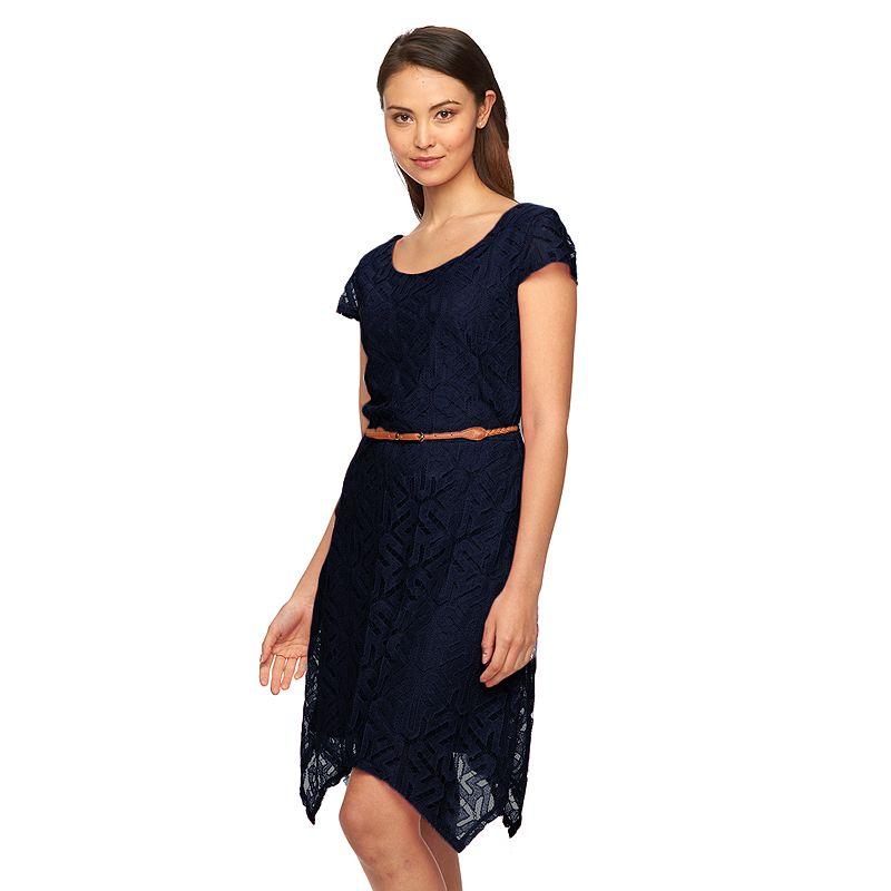 Women's AB Studio Lace Fit & Flare Dress
