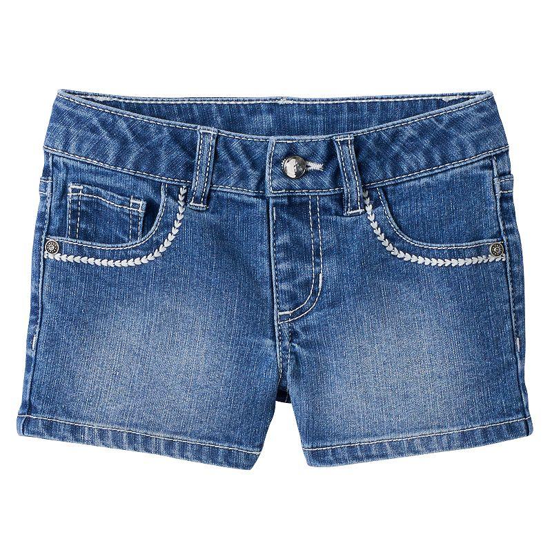 Girls 4-7 SONOMA Goods for Life™ Embroidered Denim Shorts